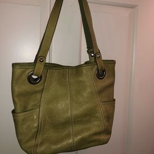 Green fossil purse used but good condition